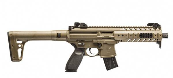 SIG SAUER SIG MPX ASP, FDE - Luftgevær 4,5mm Pellet